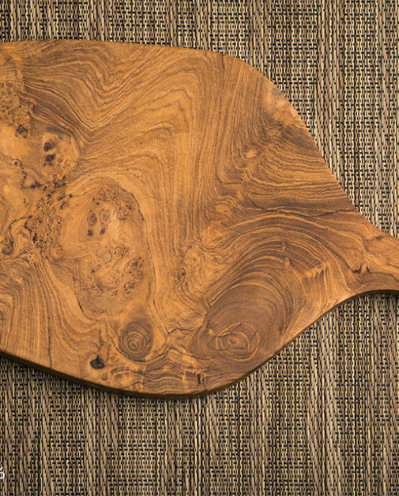 Fromagination features an Oval Teakwood Cheese Board