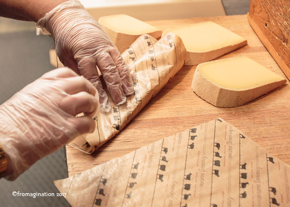 Wrapping Cheese at Fromagination