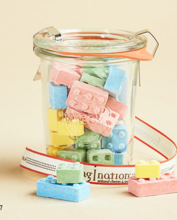 Fromagination features candy blocks