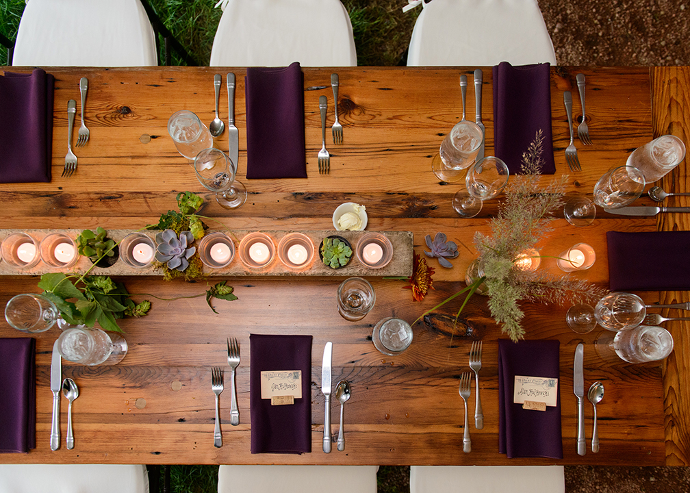 Fromagination wedding table setting