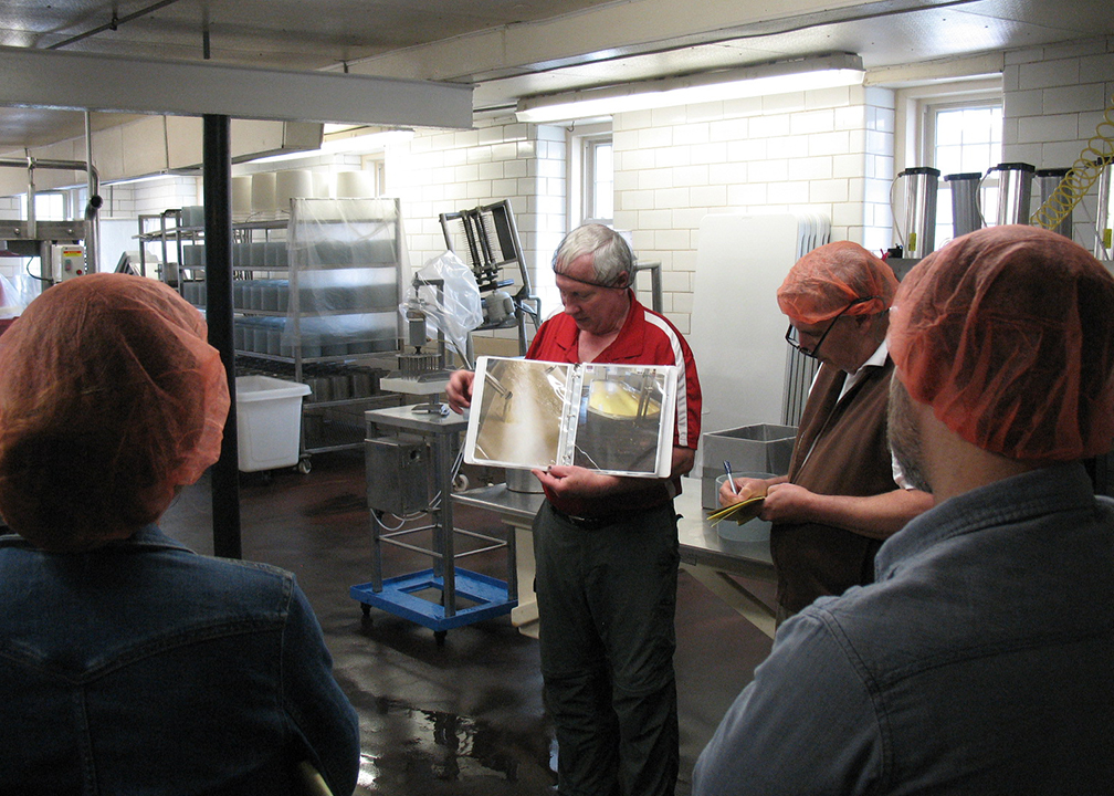 Fromagination staff visits Hook's Cheese, Mineral Point, Wisconsin