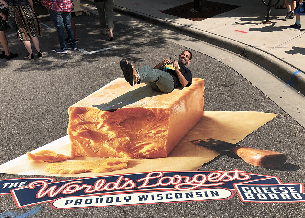 Fromagination's Ken Monteleone at the World's Largest Cheese Board 2018