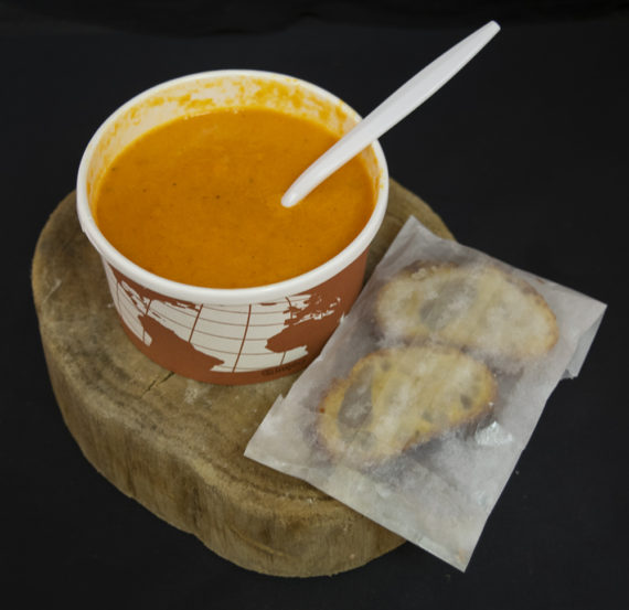 Our soup is seasonal and changes weekly.