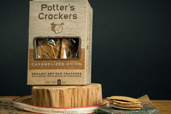 This a picture of Potter's Caramelized Onion Crackers, featured by Fromagination