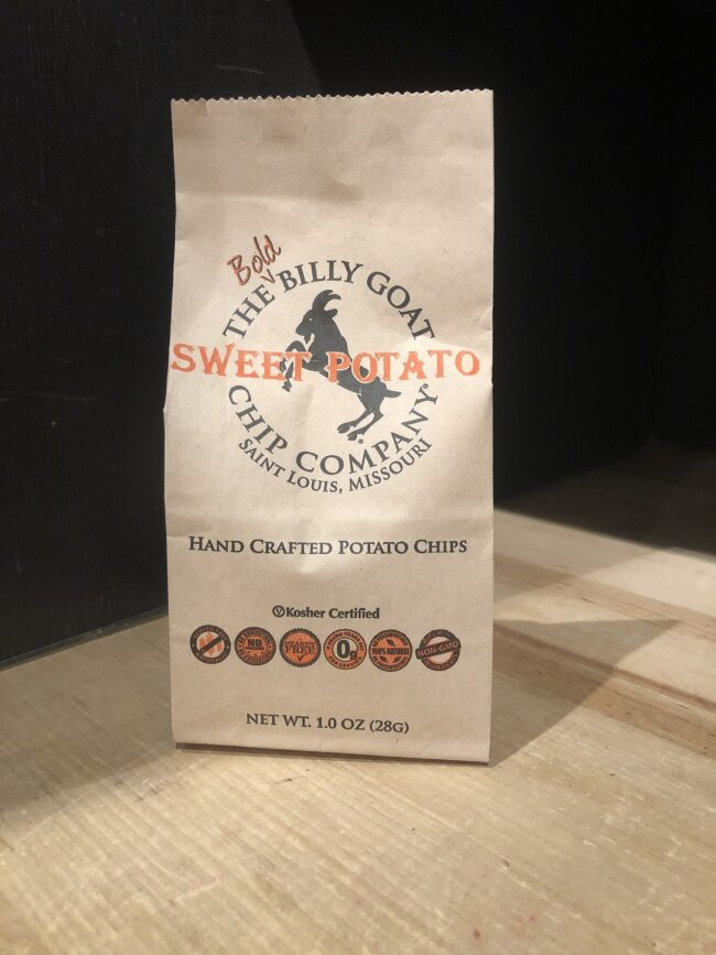 This is an image of our Sweet Potato Billy Goat Chips.