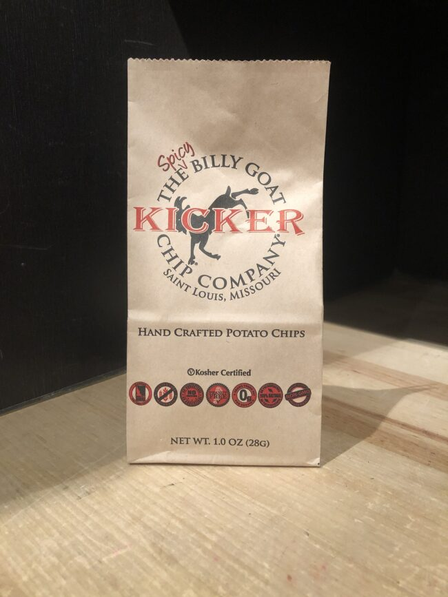 This is an image of our Kicker Billy Goat Chips.