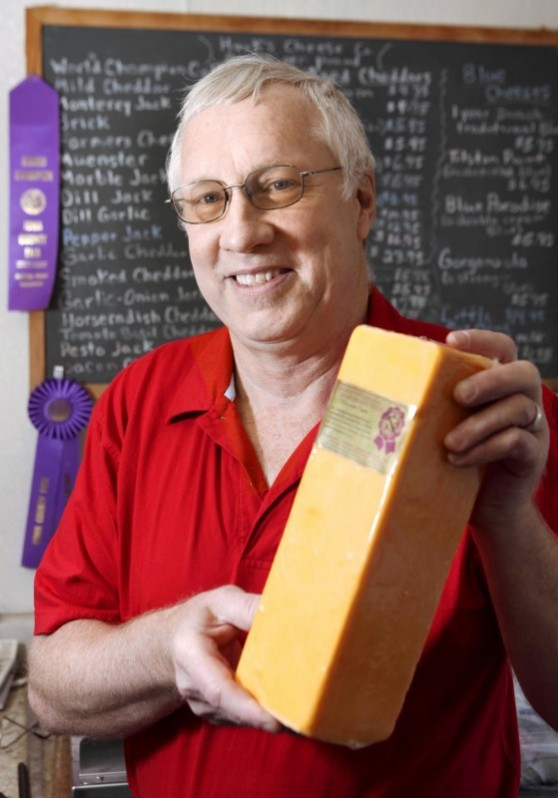 Tony Hook of Hook's Cheese in Mineral Point, Wisconsin