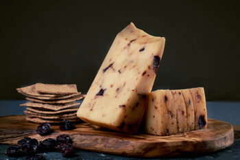 This is a picture of Cranberry Chipotle cheese, offered by Fromagination