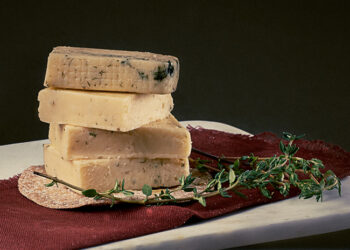 This is a picture of flavored Havarti cheeses from Roth Cheese, at Fromagination