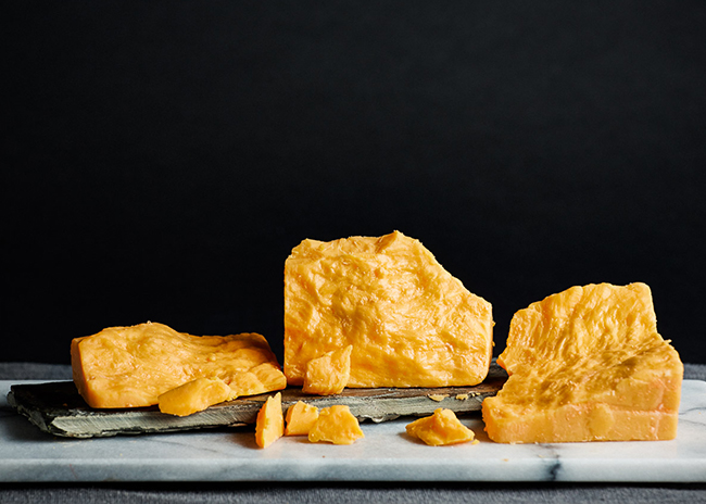 This is a picture of Hook's 20-Year Aged Cheddar cheese.