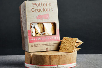 This is a picture of Potter's Applewood Smoked Crackers, offered by Fromagination