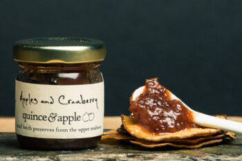 This is a picture of Quince & Apple's Apple and Cranberry Preserves.