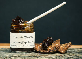 This is a picture of Quince & Apple's Figs and Black Tea Preserves.