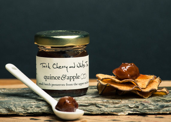 This is a picture of Quince & Apple's Tart Cherry and White Tea Preserves.