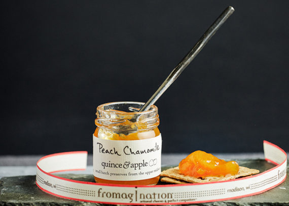 This is a picture of Quince & Apple's Peach Chamomile Preserves.