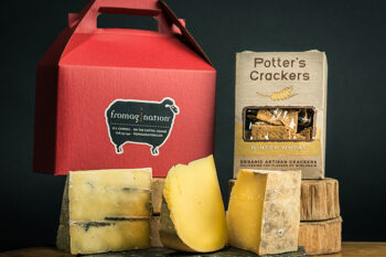 This is a picture of the Wisconsin Alps gift set, featured by Fromagination