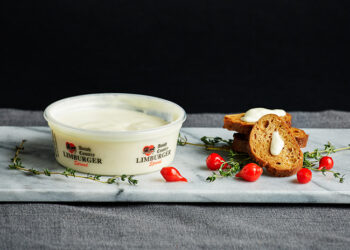 This is a picture of Limburger cheese spread, featured by Fromagination