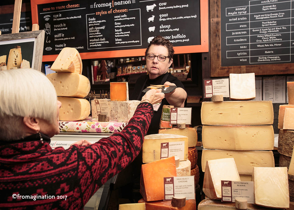 Tasting Cheeses at Fromagination