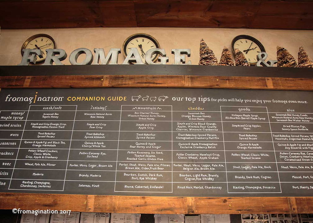 Fromagination's Cheese Companion Guide Board
