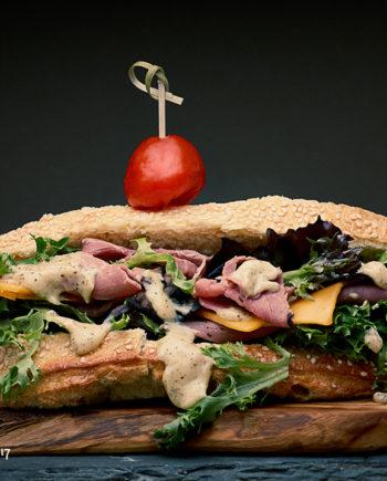 Fromagination's Val D'Aran Beef Sandwich