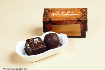 This is a picture of Gail Ambrosius Truffles 2-Piece Box.