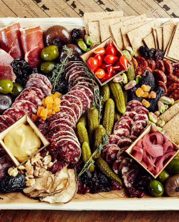 Fromagination features artisan charcuterie trays