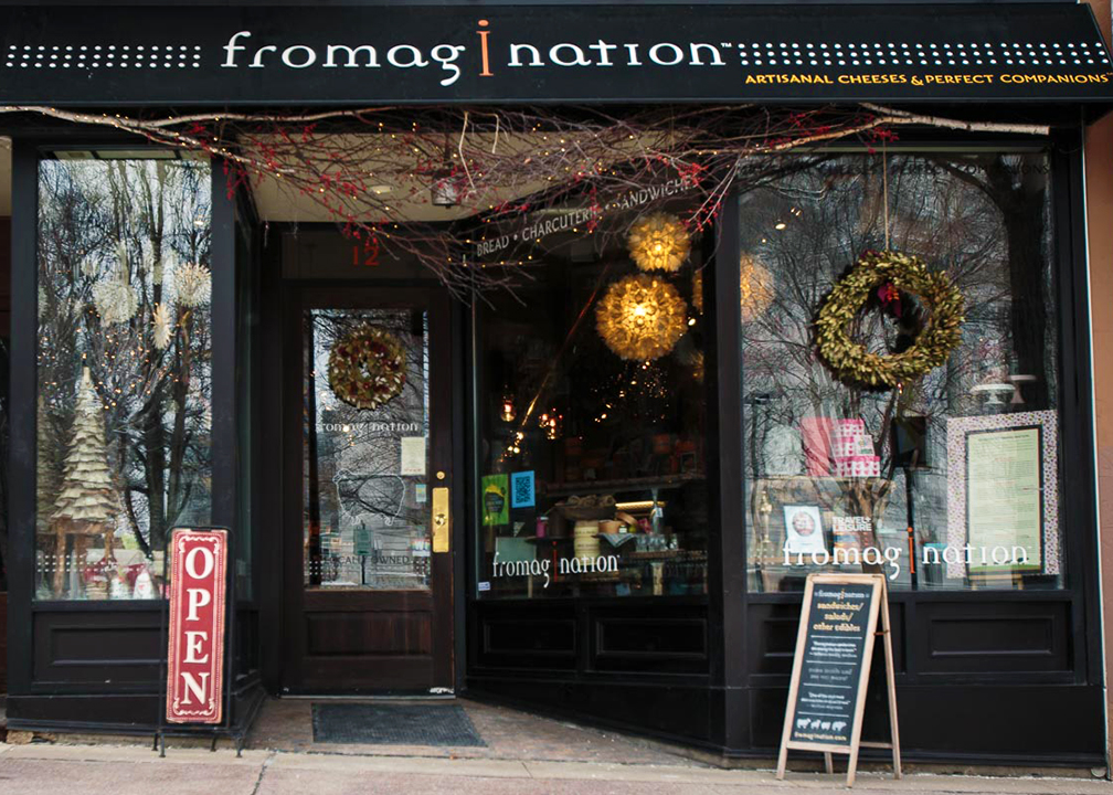 Fromagination's shop at 12 South Carroll Street, Madison, Wisconsin