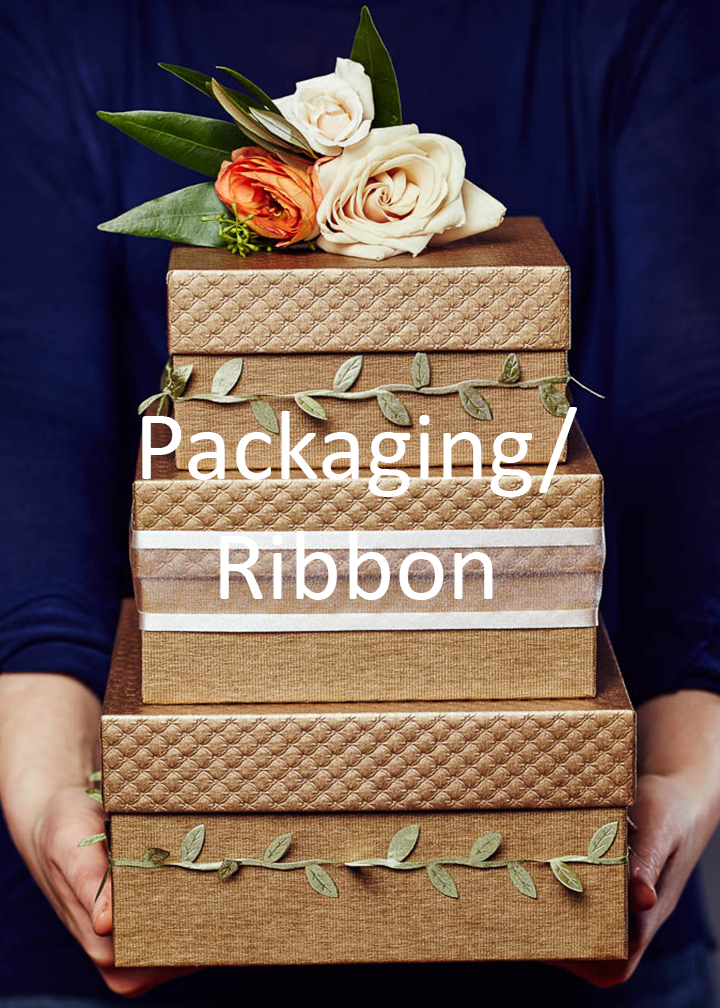 Fromagination's packaging and ribbon
