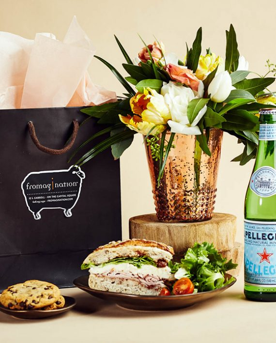 Fromagination features lunch gift bags