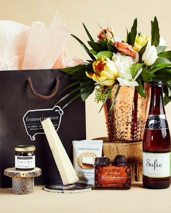 Fromagination features gift bags with Sofia wine