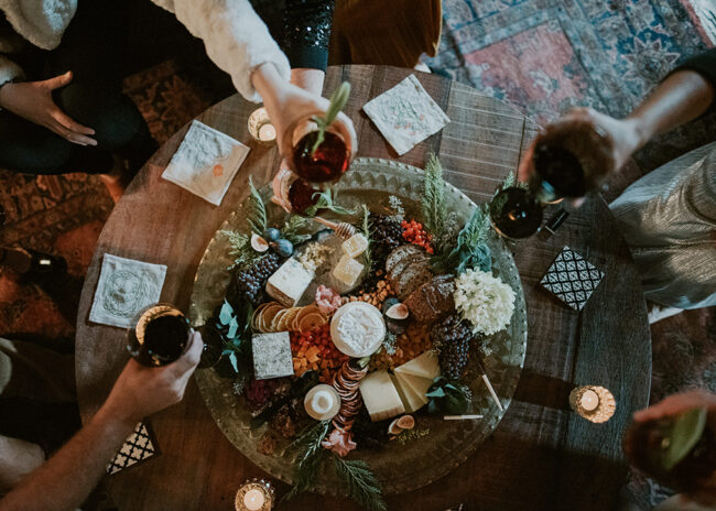 Fromagination features cheese and charcuterie trays