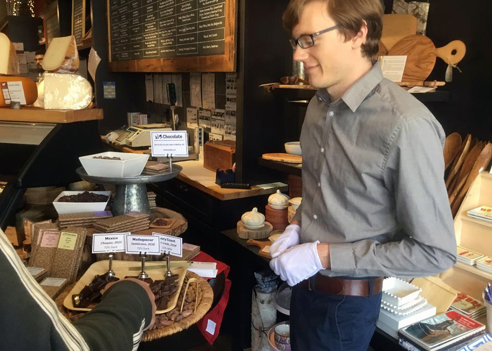 Wm. Chocolate visits Fromagination