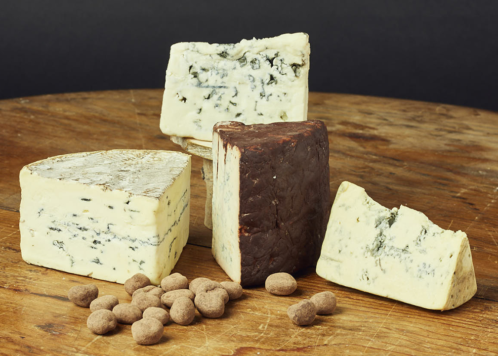 Fromagination also imports blue cheeses from Europe