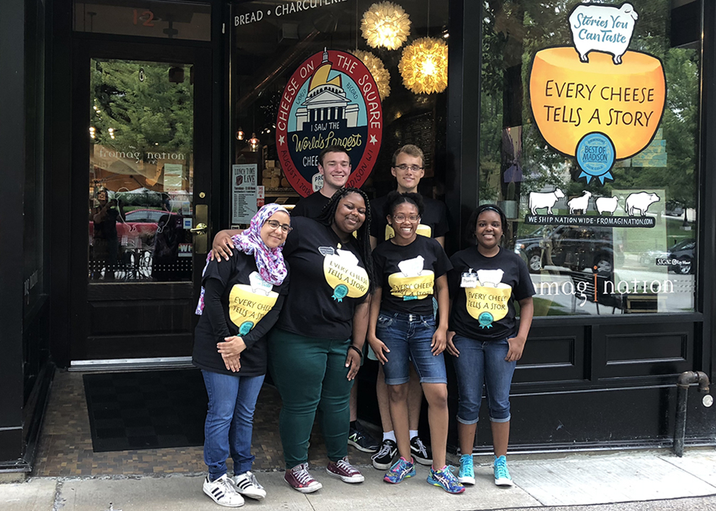 Fromagination has a teenage staff this summer