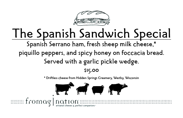 Fromagination's sandwich special