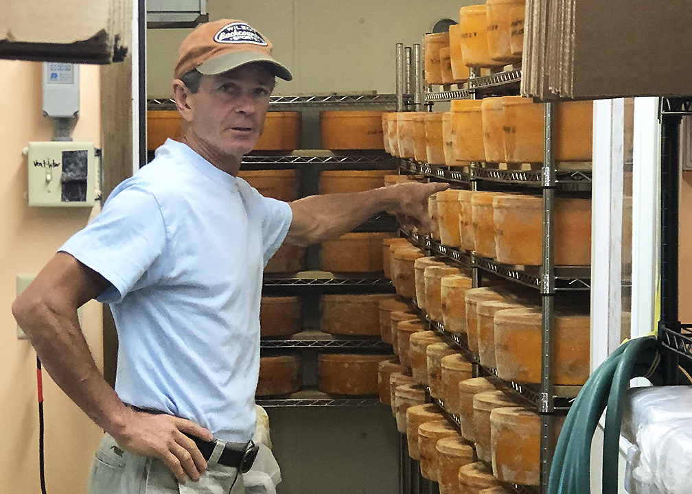 Willi Lehner of Bleu Mont Dairy, Blue Mounds, Wisconsin