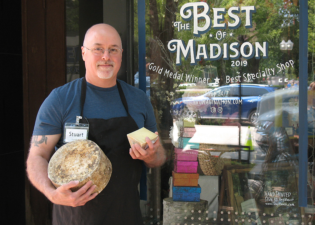 Stuart Mammel is a lead cheesemonger at Fromagination