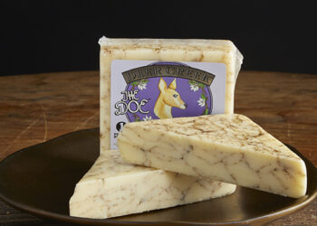 This is a picture of Deer Creek Doe cheese.