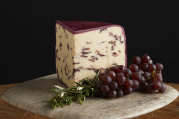 This is a picture of Wensleydale cheese, featured by Fromagination