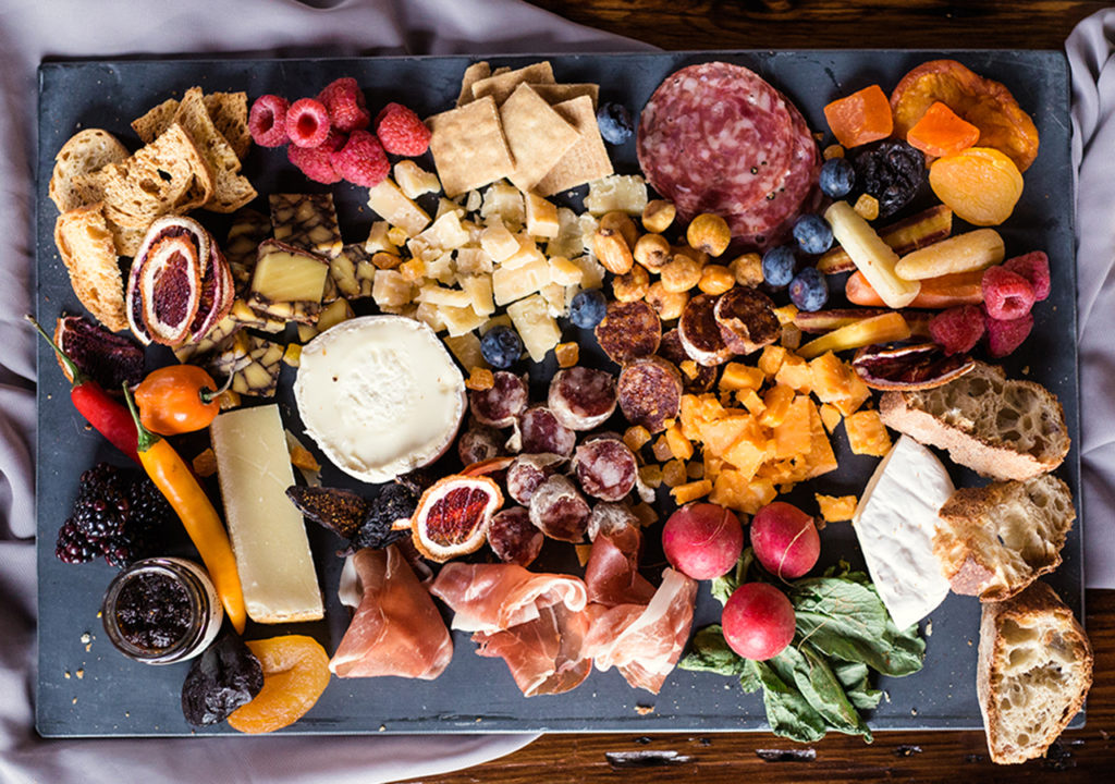 This is a picture of a Fromagination catering tray.