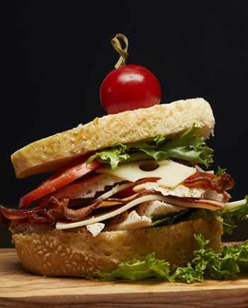 This is a picture of Fromagination's Flavorsome Fowl Sandwich.