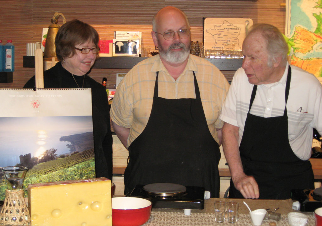 This is a picture of Greg Upward at a culinary demonstration.