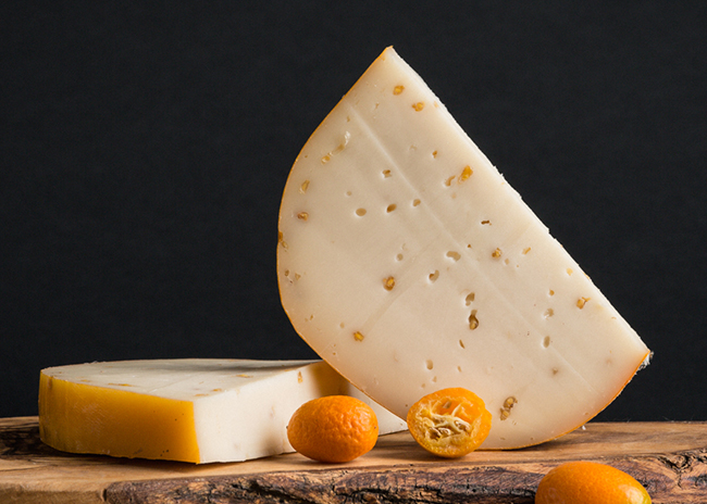 This is a picture of Marieke Foenegreek Gouda cheese.
