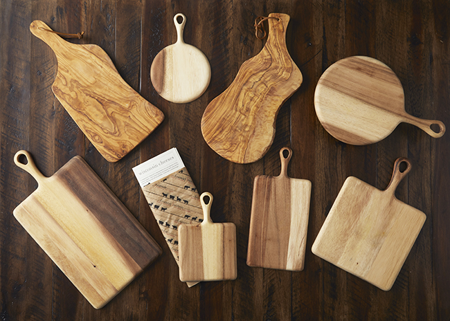 This is a picture of various Cheese Serving Boards offered by Fromagination.
