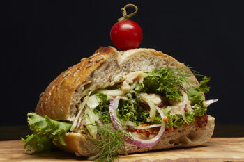 This is a picture of the Vegan Verde sandwich.
