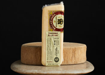This is a picture of Chardonnay BellaVitano Cheese, offered by Fromagination.