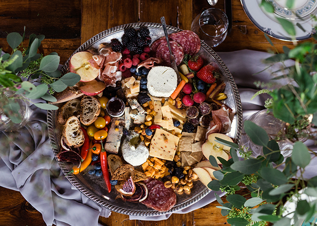 This is a picture of a Fromagination cheese tray for entertaining.