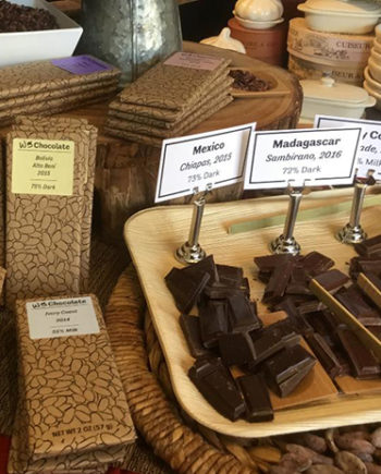 This is a picture of chocolate products at Fromagination.