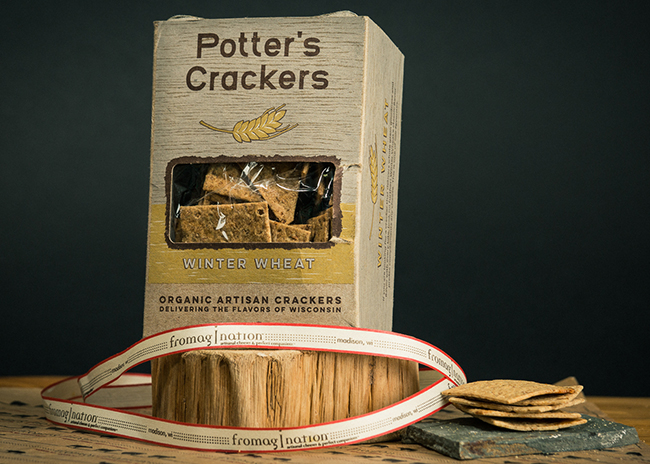 This is a picture of Potter's Winter Wheat Crackers