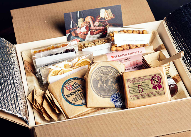 This is a picture of Fromagination's Social Distancing Cheese Kit
